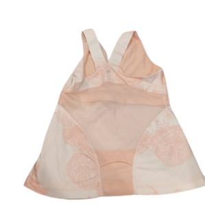Lululemon Deep V Athletic Tank floral peach/coral